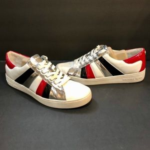 Michael Kors Conrad Striped Lace Up Sneakers NWOB